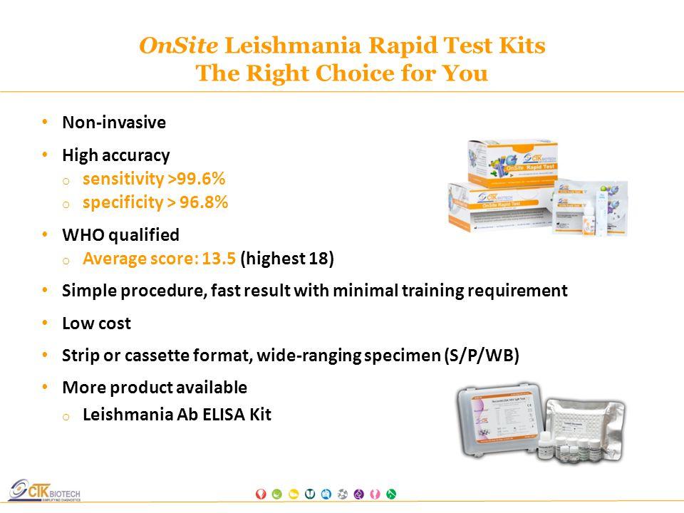 Leishmaniasis strip test
