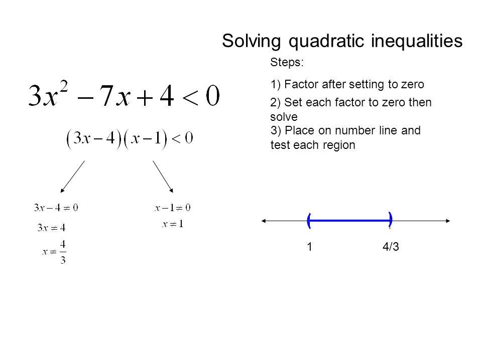 Calculus X Solving Inequalities Algebraically Unit 1 TS: Making ...