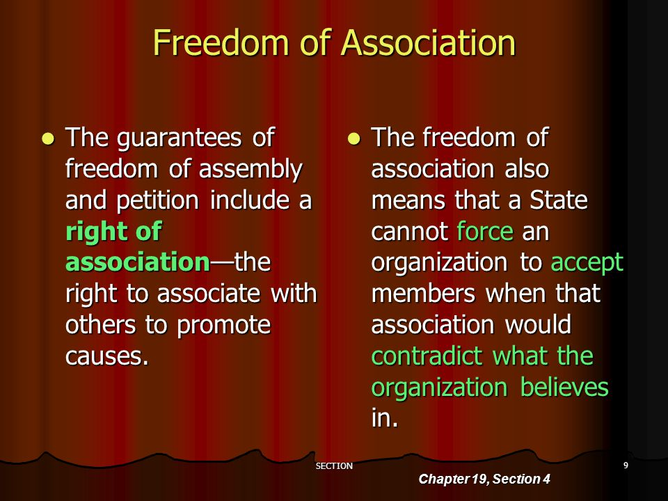 Section 1 Freedom Of Assembly And Petition Standard Discuss The