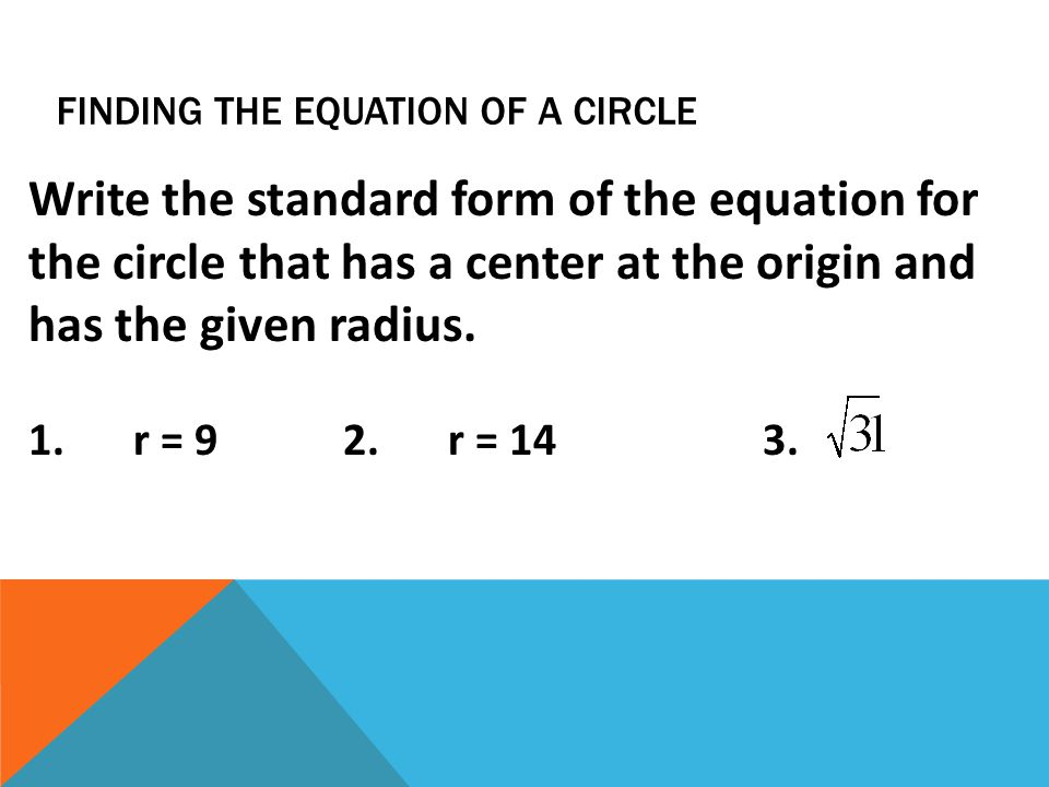 Ccgps Geometry Unit Question How Are The Equations Of Circles And
