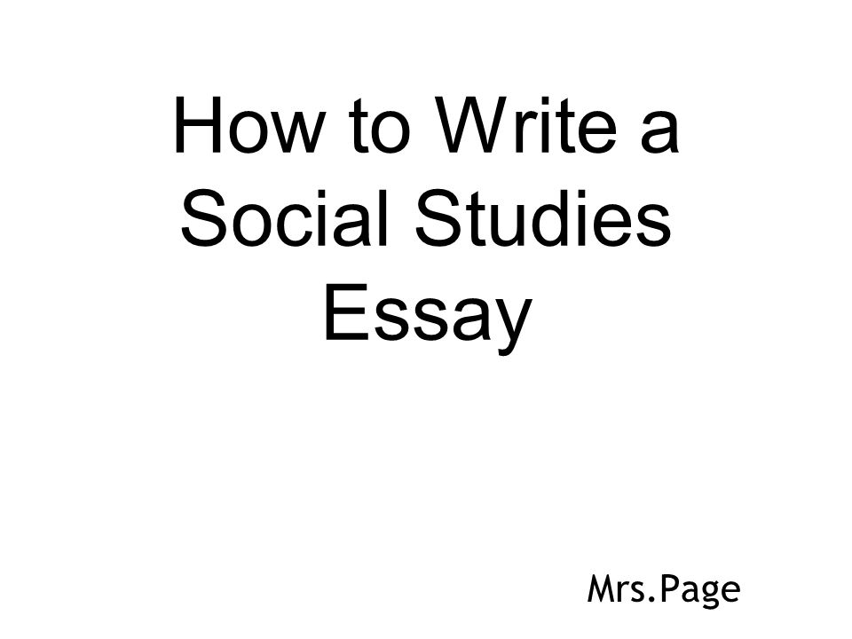 How to write a thesis statement for social studies essay
