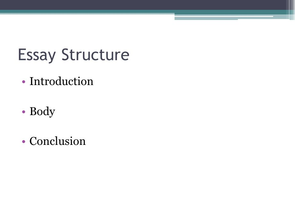 Essay Structure Introduction Body Conclusion