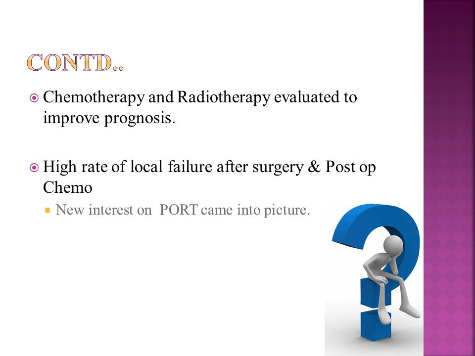  Chemotherapy and Radiotherapy evaluated to improve prognosis.