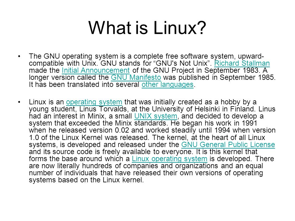 What is Linux.