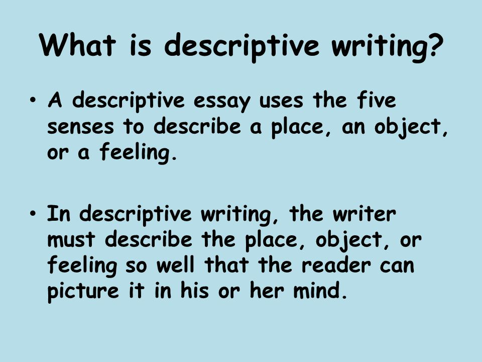 descriptive essays using the five senses