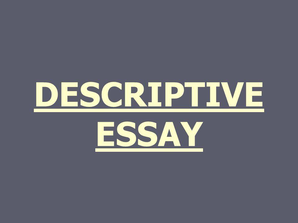 Description essay assignment?