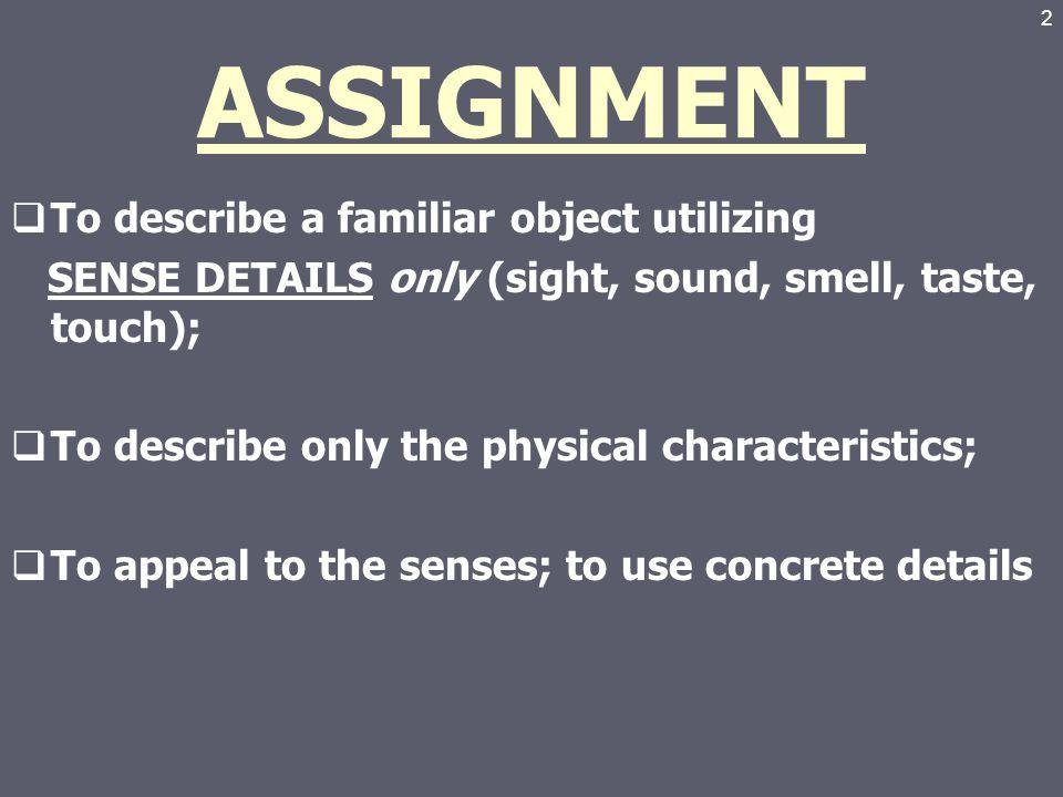How does this descriptive essay sound?