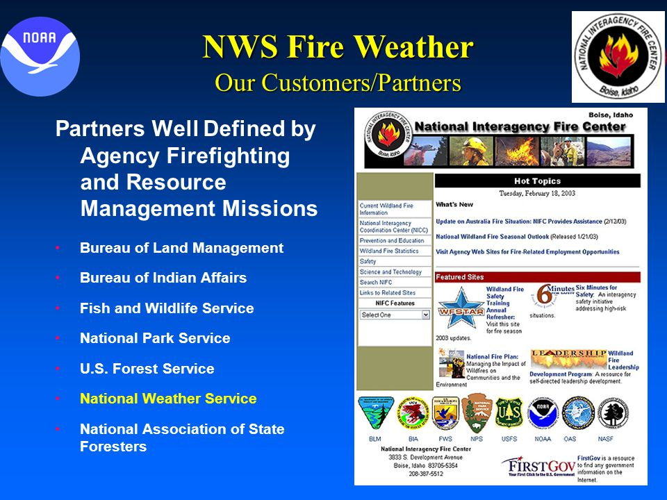 National Weather Service Fire Weather Program Heath Hockenberry
