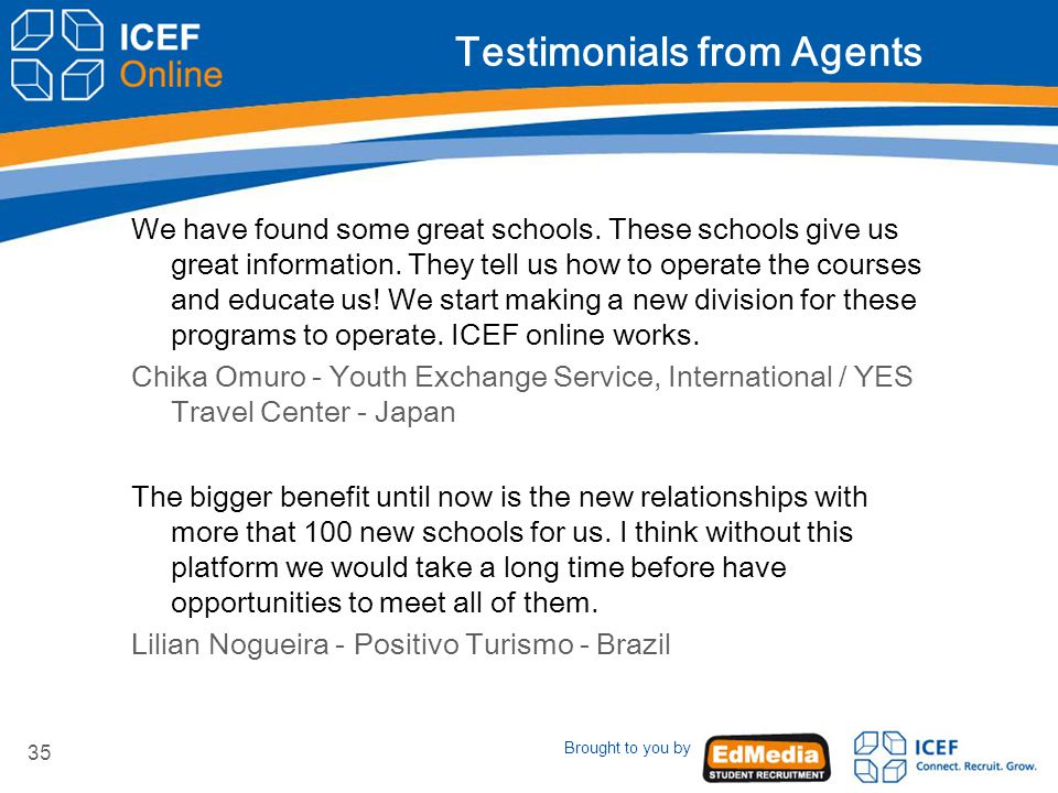 Brought to you by 35 Testimonials from Agents We have found some great schools.