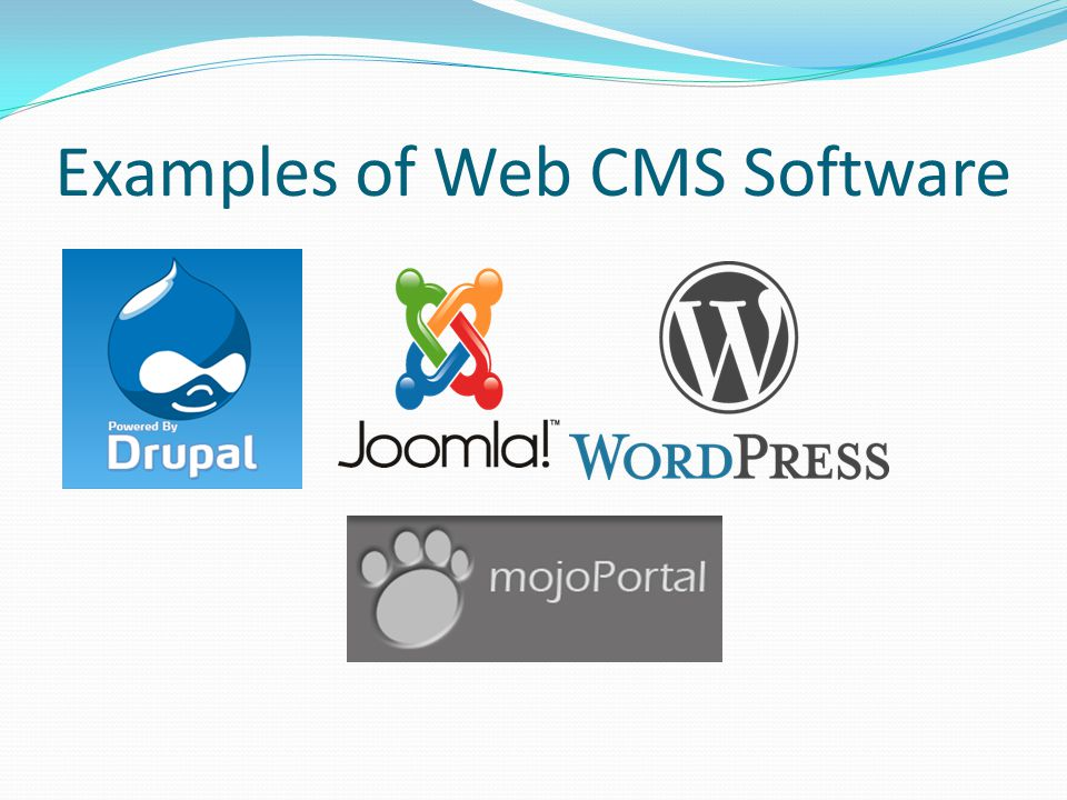 Examples of Web CMS Software