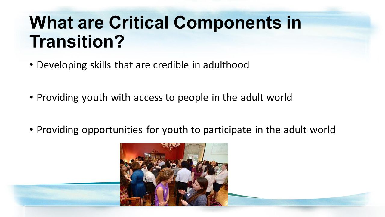 What are Critical Components in Transition.