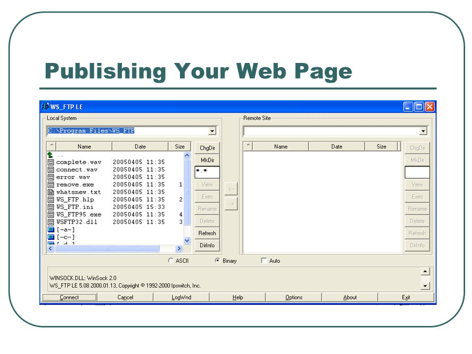 Publishing Your Web Page