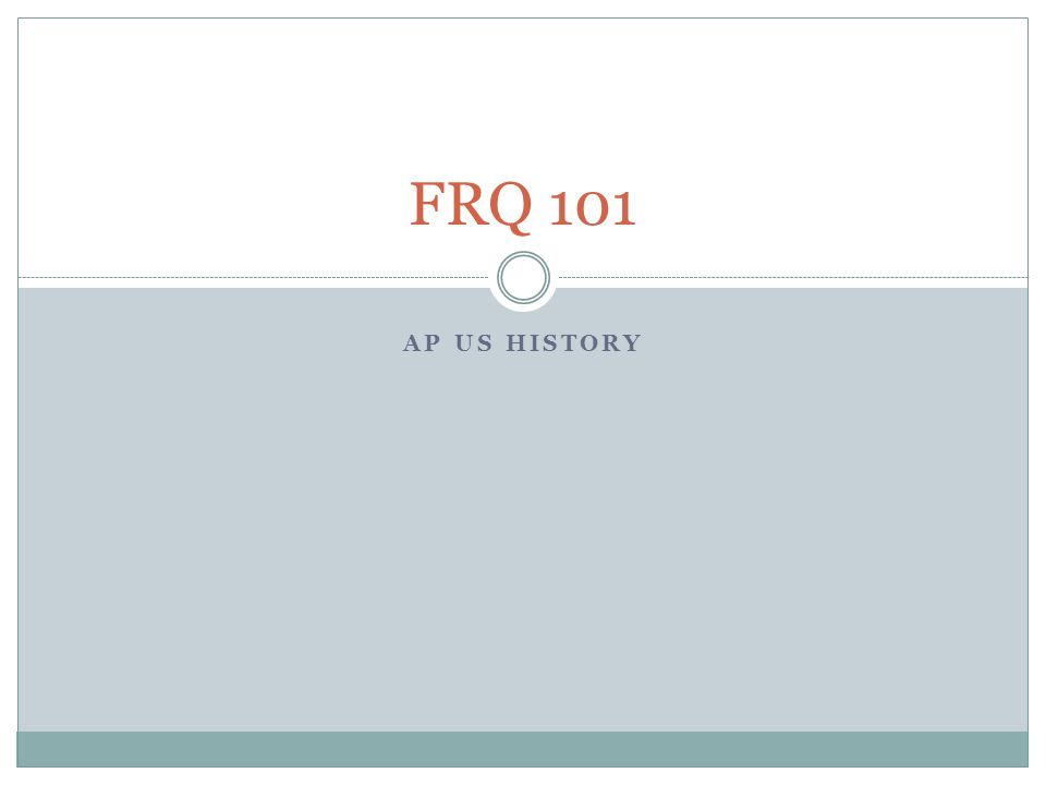 What is the difference between a FRQ and a DBQ for AP U.S. History?
