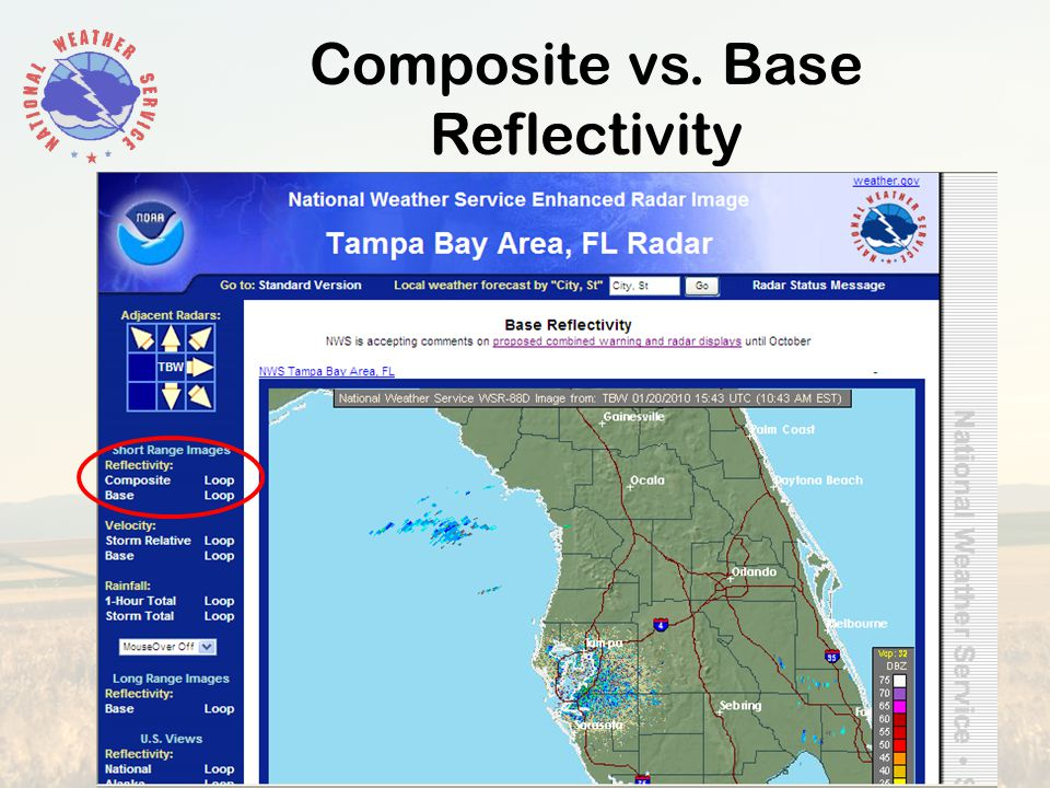 Composite vs. Base Reflectivity