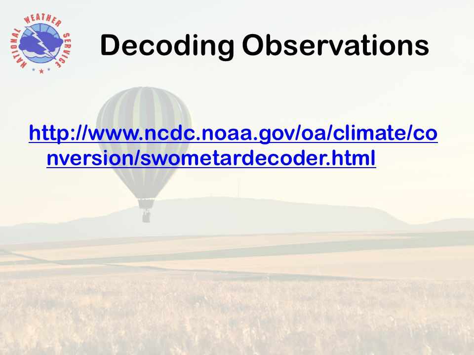 Decoding Observations   nversion/swometardecoder.html