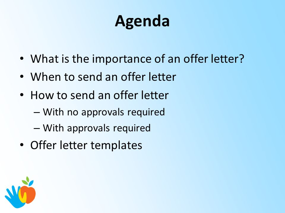 Hiring ManagerSupervisor Training Offer Letters  Ppt Download