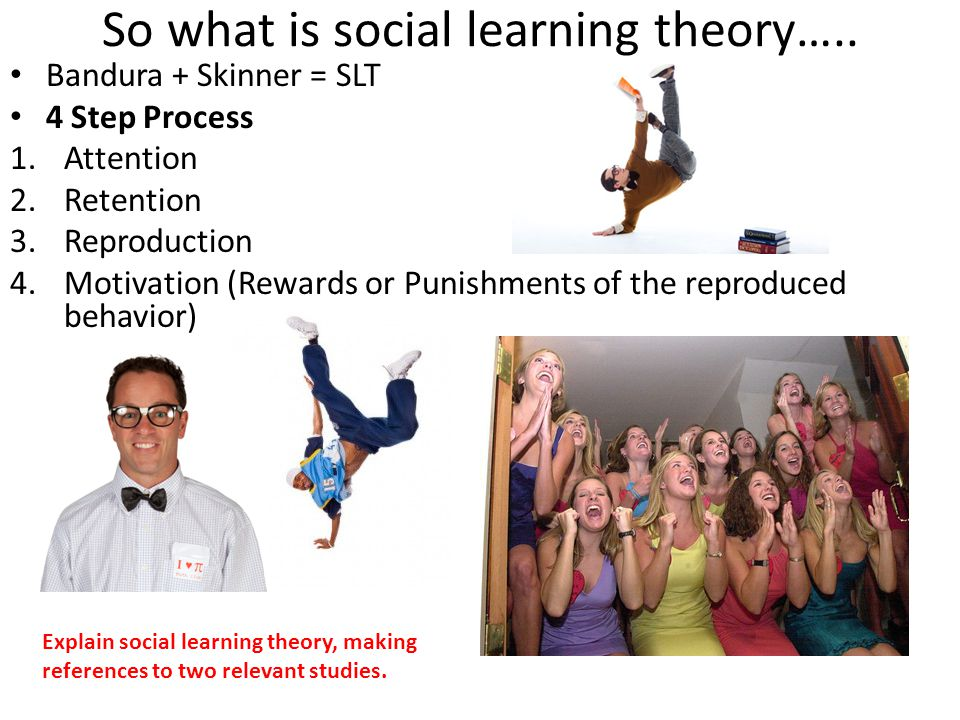 So what is social learning theory…..