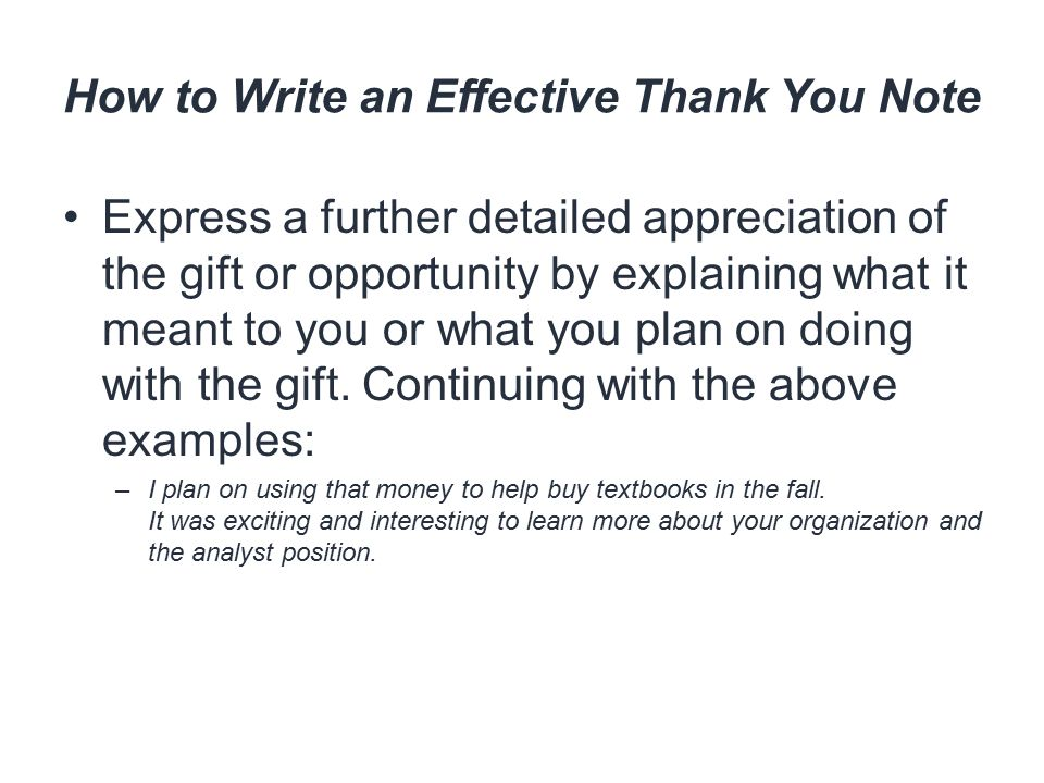 thank you note for the gift