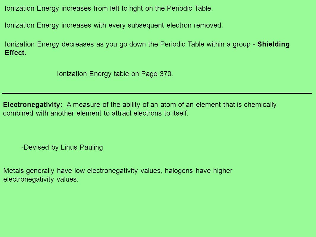 Chemistry chapter 14 the periodic table a brief history dimitri ionization energy increases from left to right on the periodic table gamestrikefo Image collections