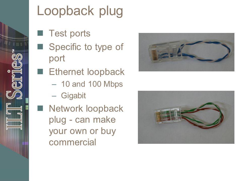 The physical network unit objective identify network cables and 29 loopback plug test ports specific to type of port ethernet loopback 10 and 100 mbps gigabit network loopback plug can make your own or buy commercial sciox Images