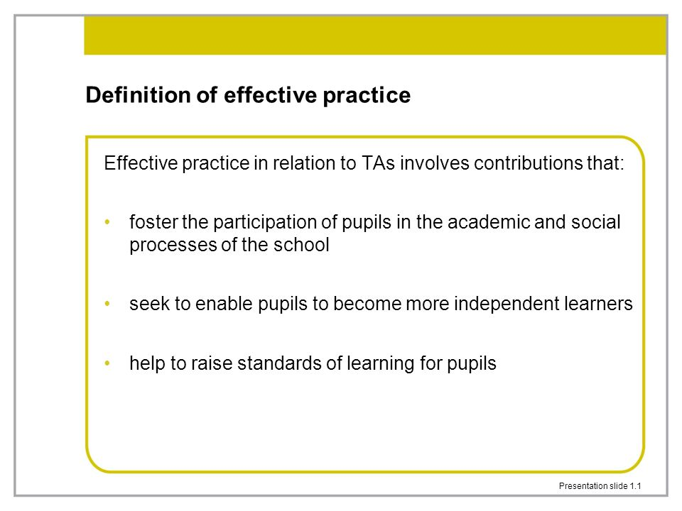 1 Presentation Slide 1.1 Definition ...