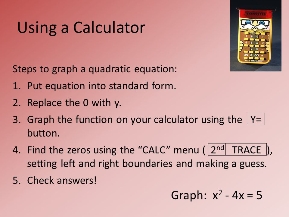 9.4 – Solving Quadratic Equations BY GRAPHING!. Warm-Up. - ppt ...