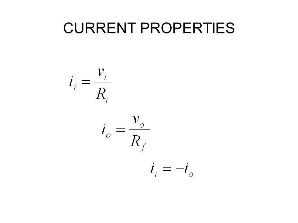 CURRENT PROPERTIES