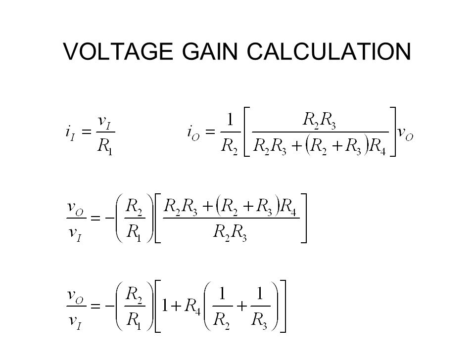 VOLTAGE GAIN CALCULATION