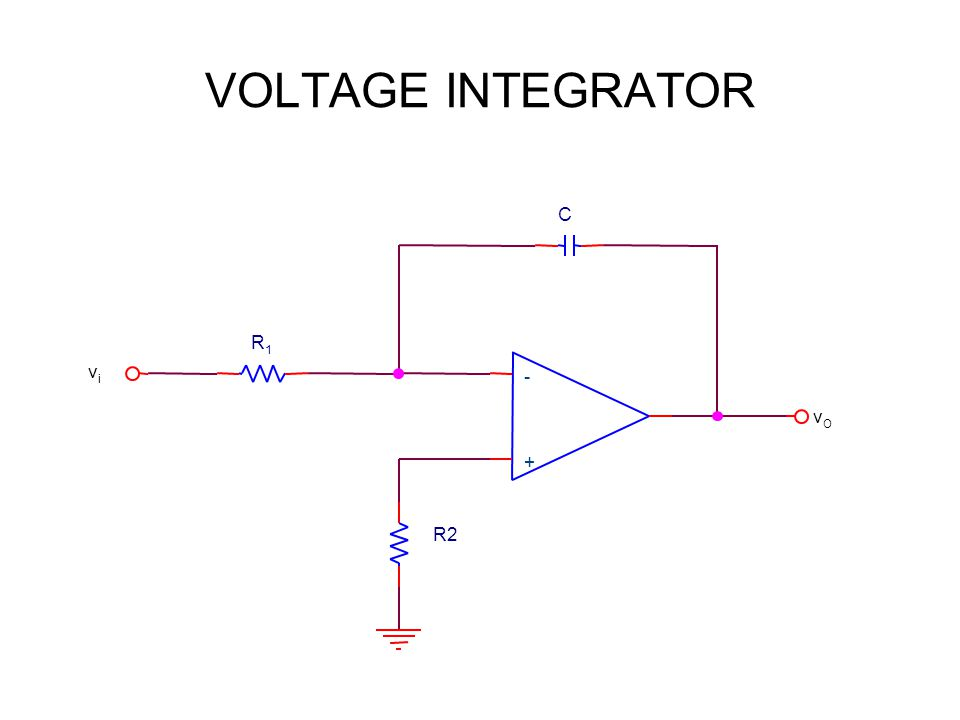 VOLTAGE INTEGRATOR + - vivi R1R1 R2 vOvO C