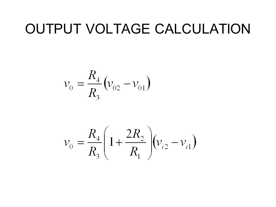 OUTPUT VOLTAGE CALCULATION