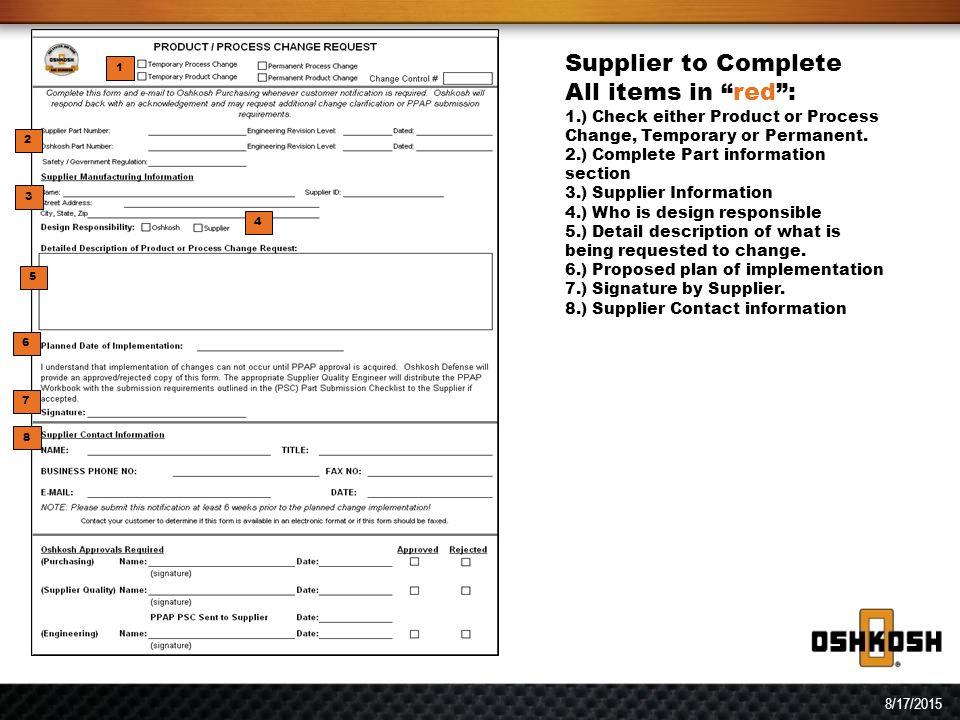 Supplier product process change request flow diagram supplier 4 sciox Images
