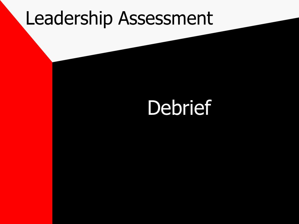 Leadership Assessment Debrief