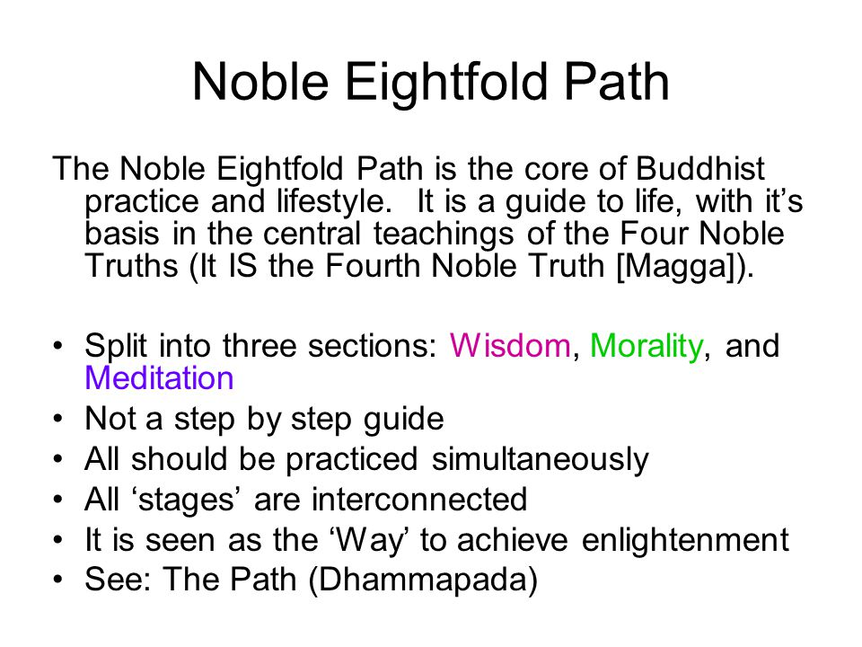Noble Eightfold Path Higher / Int 2. Noble Eightfold Path The ...