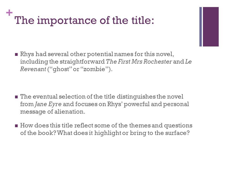 Jane Eyre Essay Title Help?