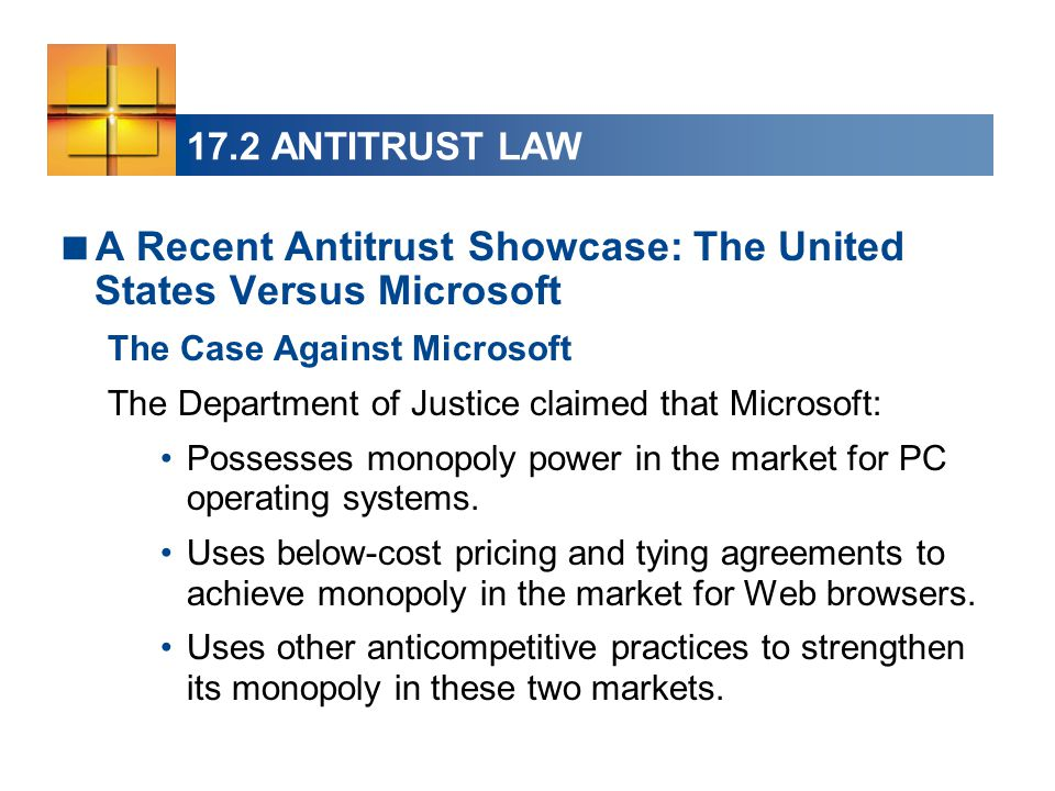 the anti trust case against microsoft essay Order plagiarism free custom written essay a collaborative model for decision makers the anti-trust case against microsoft microsoft and anti -trust.