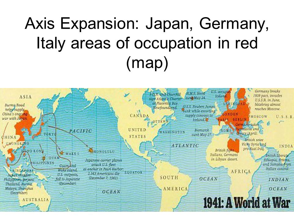 World War II Players Axis Expansion Japan Germany Italy - Germany japan map