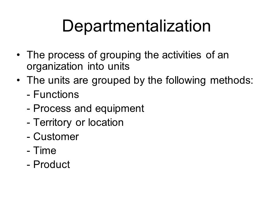 CHAPTER 16 Reorganization: Changes in organizational structures, departmentalization, assignment of activities, and authority relationships It is closely aligned with reengineering Reorganization occurs because of: - Changes in priorities and goals - Financial needs - Scientific and technological advances - New developments and practices