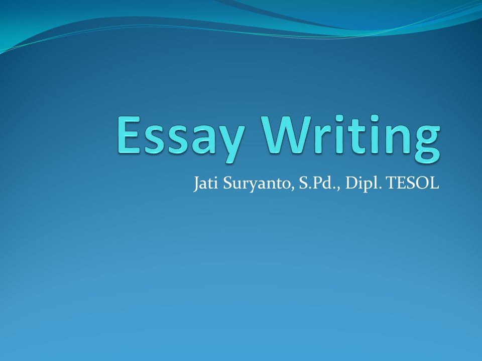 introduction to tesol essay