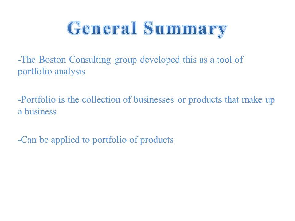 aufgabe bcg portfolio