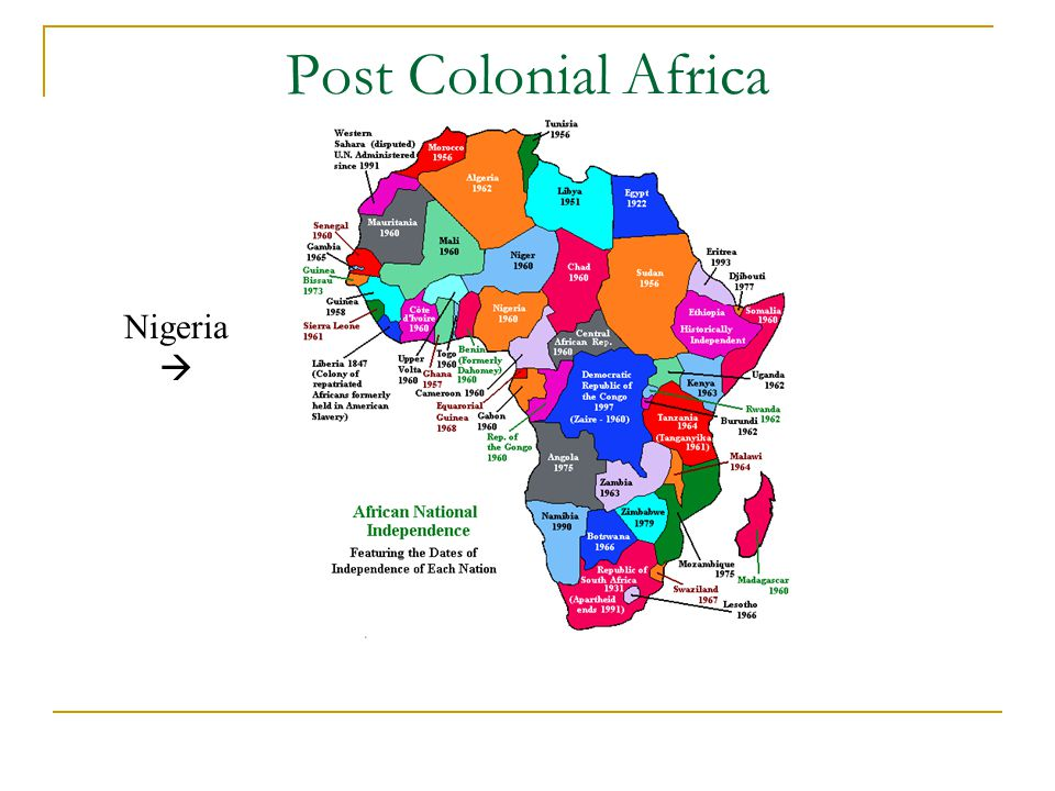 Post Colonial Africa Nigeria 