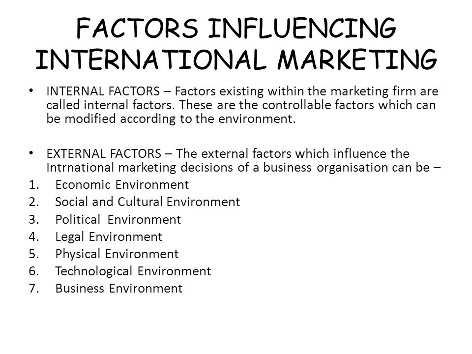 factors influencing international pricing Export pricing objectives and factors influencing them a wealth of factors influencing five the most important factors influencing pricing for international.