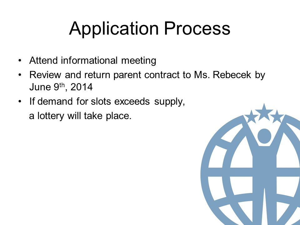 Application Process Attend informational meeting Review and return parent contract to Ms.