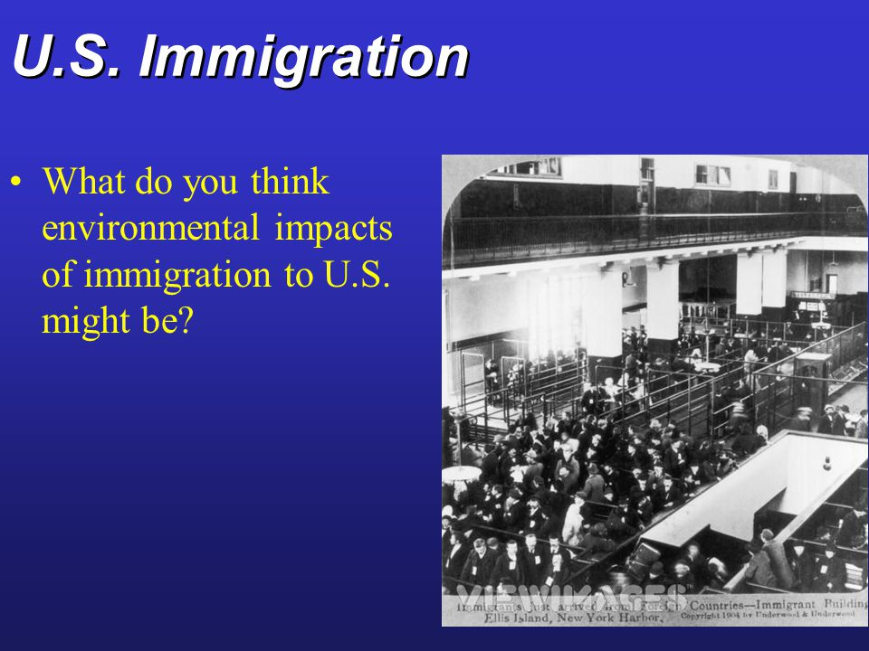 U.S. Immigration What do you think environmental impacts of immigration to U.S. might be
