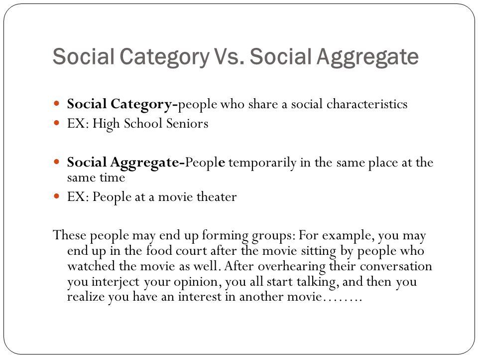 Social Category Vs.