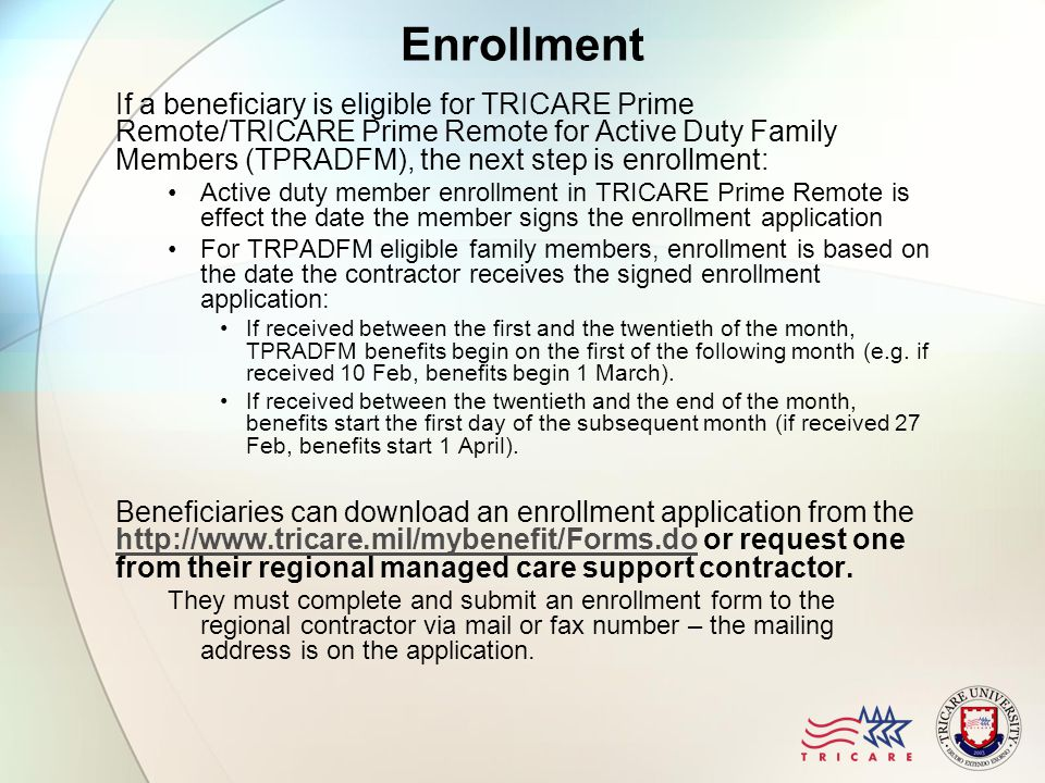 Lesson Objectives TRICARE Prime Remote After this lesson, you ...
