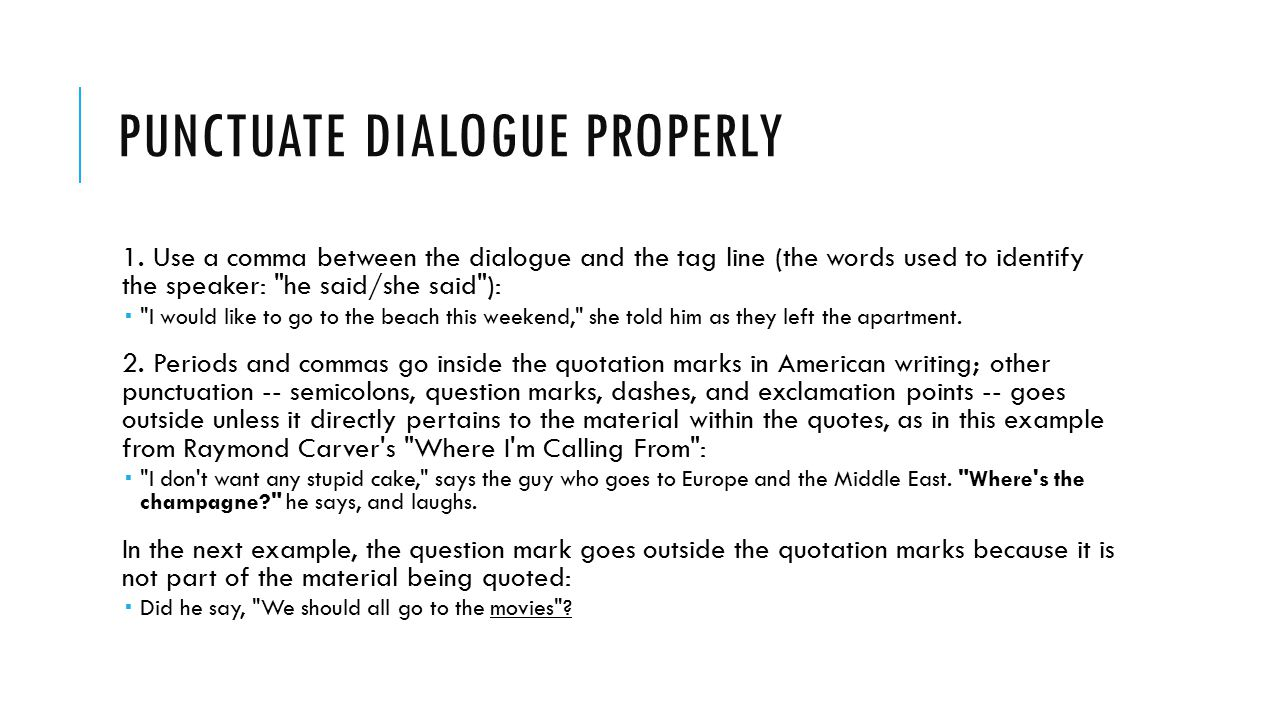 proper use of dialogue in an essay