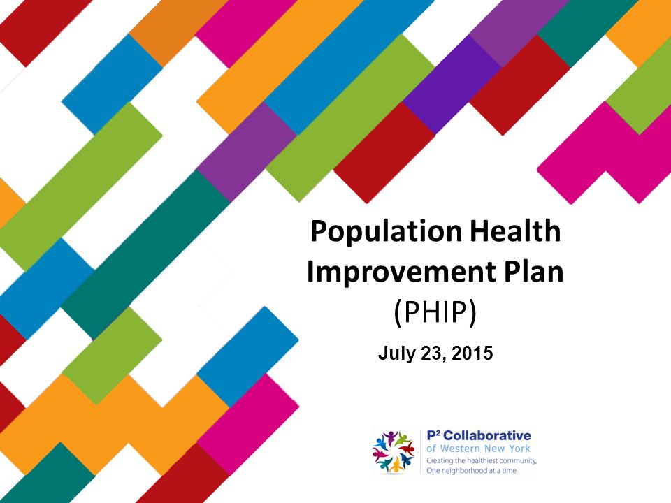 Population Health Improvement Plan (PHIP) July 23, 2015