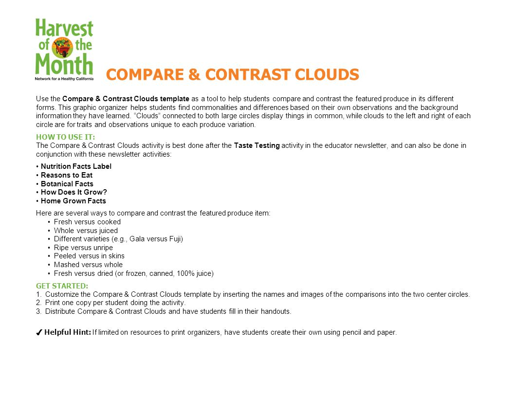 Use the compare contrast clouds template as a tool to help use the compare contrast clouds template as a tool to help students compare and contrast pronofoot35fo Images