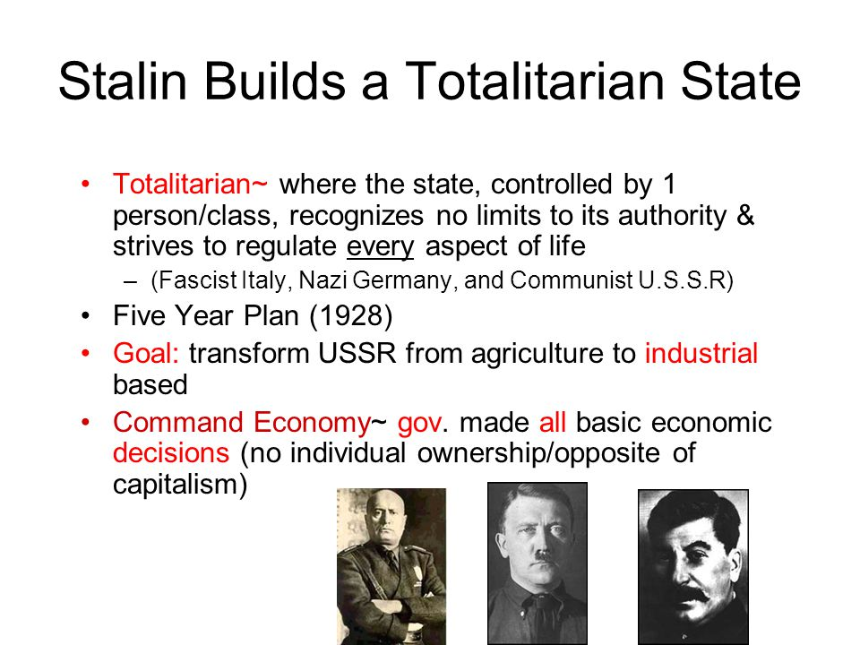 Stalin & the U.S.S.R. Objective~ Understand how Stalin creates a ...