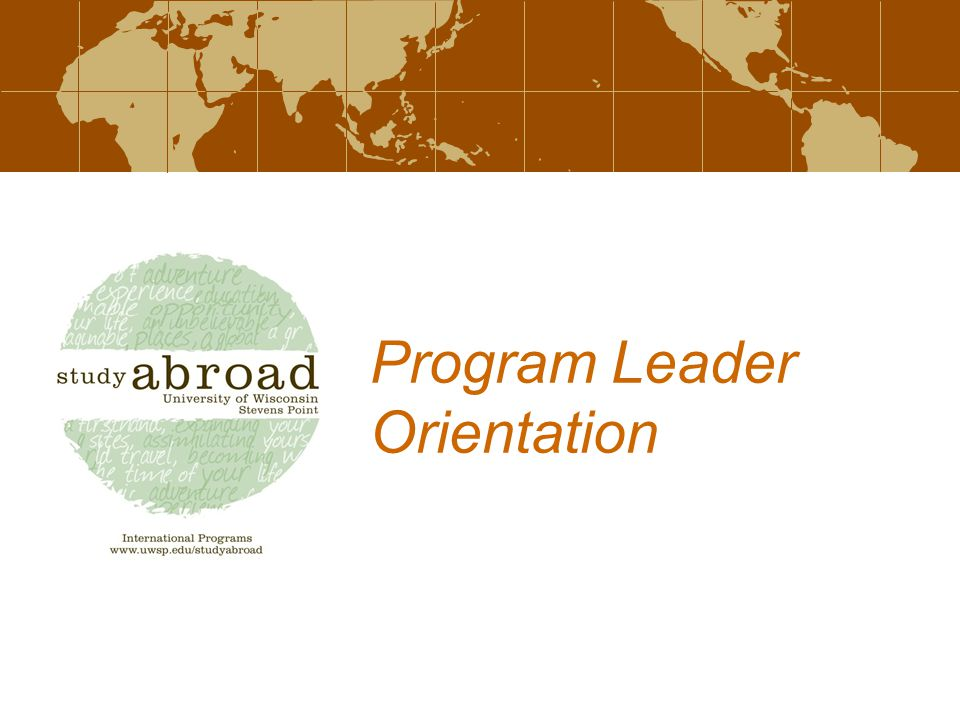 Program Leader Orientation